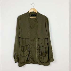 Lane Bryant Green Anorak Jacket
